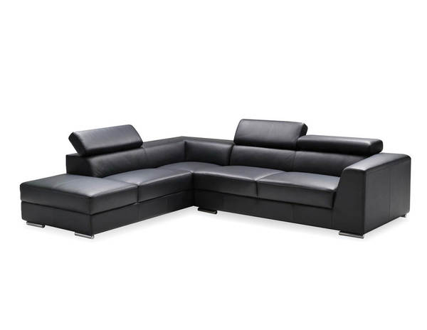 Mobital Icon Grain Leather Sectional with LSF Chaise MBT-SERICON-SEC-VAR2