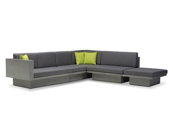 Mobital Sancho Grey Fabric Sectional with Coffee Table MBT-SELSANCGREY