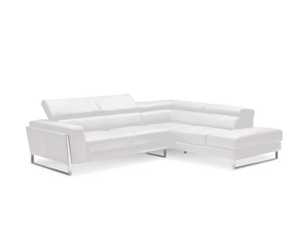 Mobital Ares White Leather Sectional with RSF Chaise MBT-SERARESPUWH
