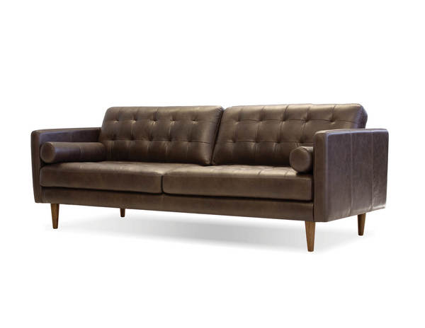 Mobital Baldwin Oak Chocolate Leather Sofa MBT-SOFBALDCHVIPCOAK
