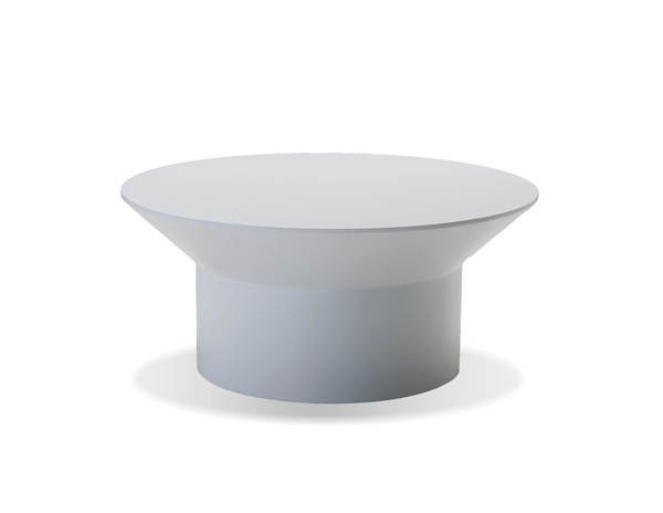 Mobital Boracay White Solid Surface Round Coffee Table MBT-WCOBORAWHIT