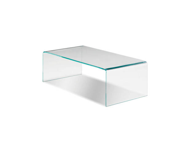 Mobital Glacier Clear Glass Coffee Table MBT-WCOGLACGLAS