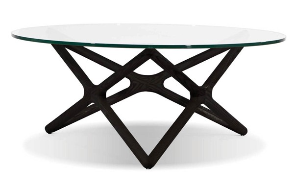 Mobital Quasar Black Clear Tempered Glass Coffee Table MBT-WCOQUASBBEE