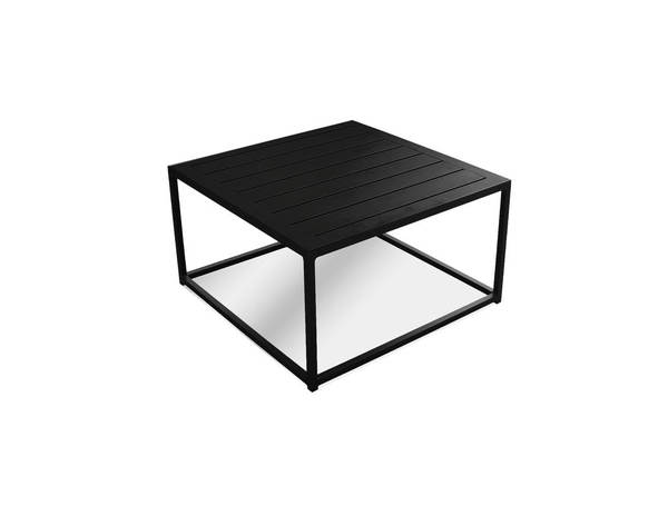 Mobital Tofino Black Aluminum Frame Coffee Table MBT-WCOTOFIALUMBLACK