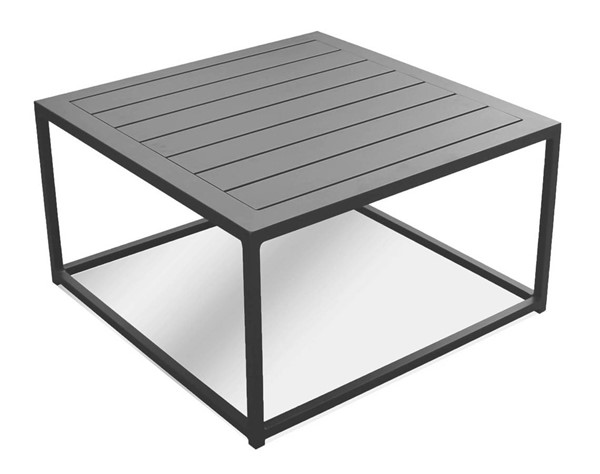 Mobital Tofino Grey Aluminum Frame Coffee Table MBT-WCOTOFIALUMGREY