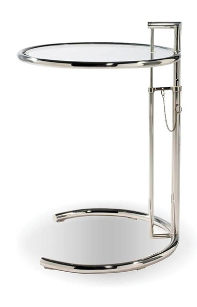 4 Mobital Angel Chrome Glass Round End Tables MBT-WENANGEALUM