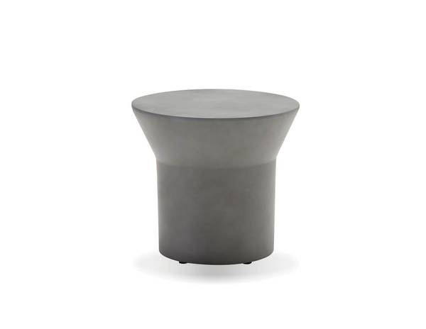 Mobital Boracay Grey Concrete Round End Table MBT-WENBORAGREY