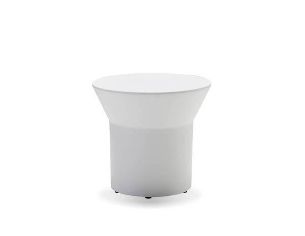 Mobital Boracay White Solid Surface Round End Table MBT-WENBORAWHIT