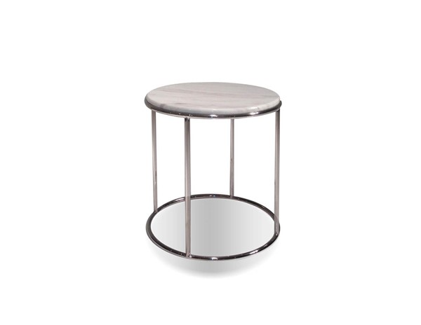 Mobital Elysee White Marble End Table MBT-WENELYSMARB