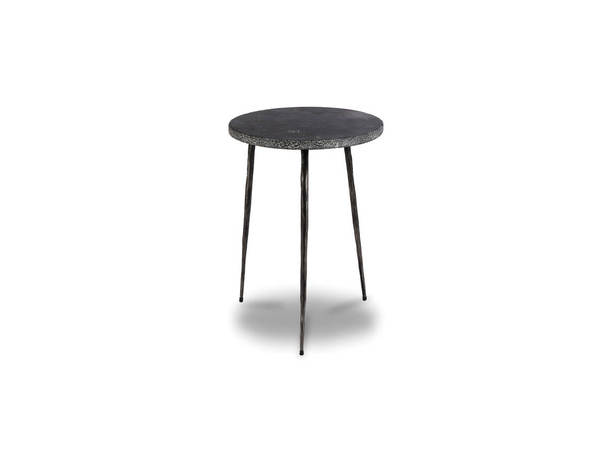 Mobital Kaii Black Marble Tall Round End Table MBT-WENKAIIBLACTALL