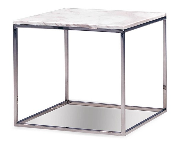 Mobital Kube Marble Stainless Steel End Table MBT-WENKUBEMARB18MM