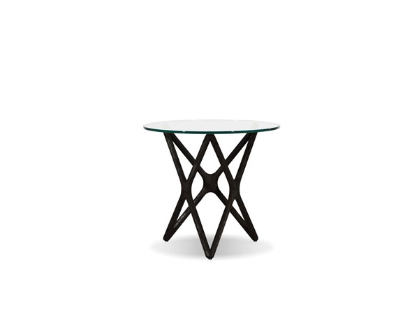 Mobital Quasar Black Clear Tempered Glass End Table MBT-WENQUASBBEELOW9
