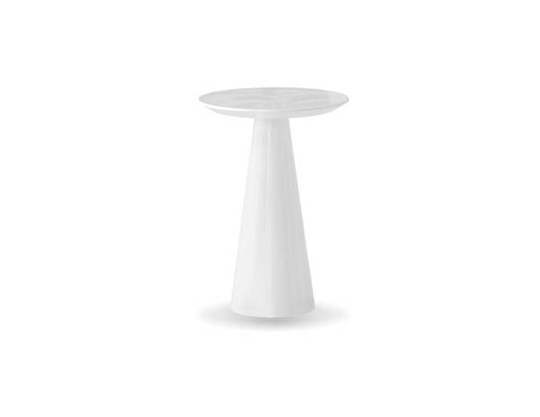 Mobital Tower White Gloss PU Tall End Table MBT-WENTOWEWHITLARGE