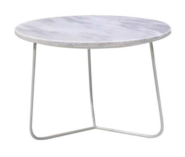 Mobital Tripoli White Marble Low End Table MBT-WENTRIPMAWHLOW99