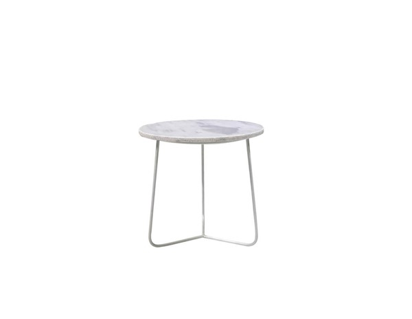 Mobital Tripoli White Marble Medium End Table MBT-WENTRIPMAWHMEDIU