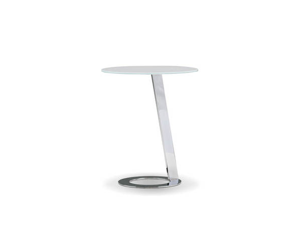 Mobital Vivid Clear Glass Metal End Table MBT-WENVIVICHROGLASS