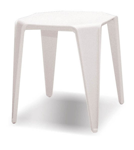 6 Mobital Yatta White Polypropylene End Tables MBT-WENYATTWHIT