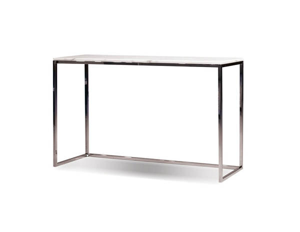 Mobital Kube Marble Stainless Steel Sofa Table MBT-WSOKUBEMARB18MM