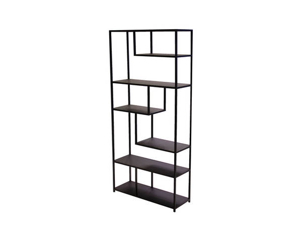 Mobital Booker Black Powder Coated Metal Bookshelf MBT-WWUBOOKBLAC