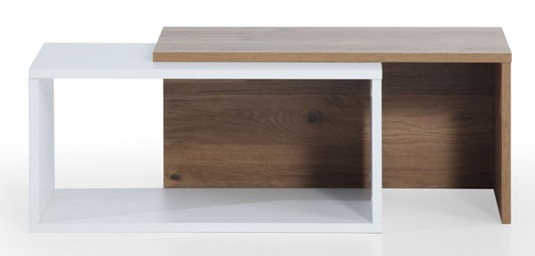 Modarte Felica White Oak Extendable Coffee Table MDRT-FE01-201