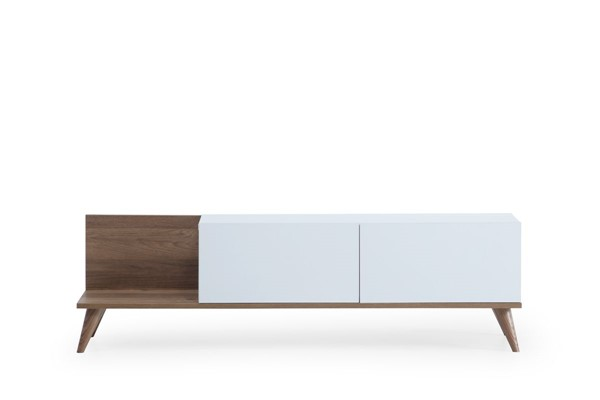 Modarte Soho White Wood TV Unit MDRT-SO03-201