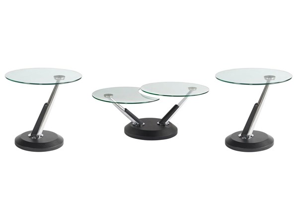 Modesto Casual Synthetic Metal Glass Coffee Table Set MG-38000