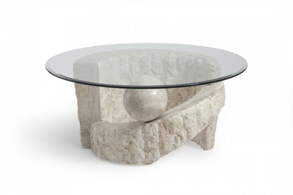 Ponte Vedra Opulence Natural Glass Round Cocktail Table Top MG-58506T
