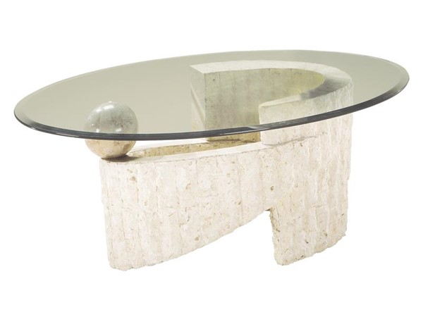 Magnussen Home Ponte Vedra Natural Oval Cocktail Table MG-58526