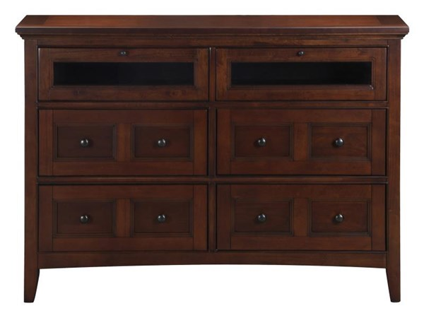 Harrison Classic Cherry Wood Round Knobs Media Chest MG-B1398-36