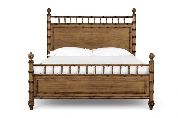 Palm Bay Casual Toffee Wood Beds W/Poster MG-B1469-Beds