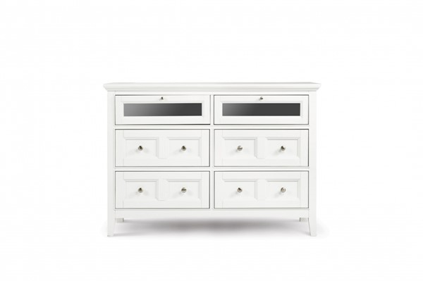 Kentwood Casual White MDF Wood Media Chest MG-B1475-36
