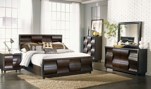 Magnussen Home Fuqua Black Cherry Master Bedroom Set MG-B1794