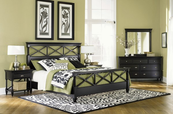 Regan Casual Black Wood 5pc Bedroom Sets MG-B1958-S