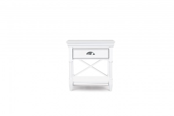 Kasey Casual White MDF Wood Open Nightstand MG-B2026-05