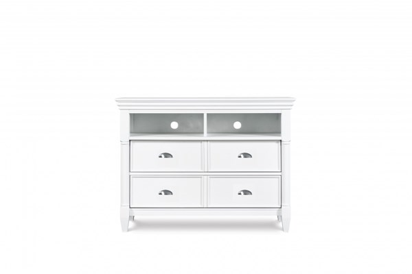 Kasey Casual White MDF Wood Media Chest MG-B2026-36