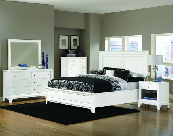 Whitley Transitional Grey Beds w/Wood Headboard MG-B2372-BEDS