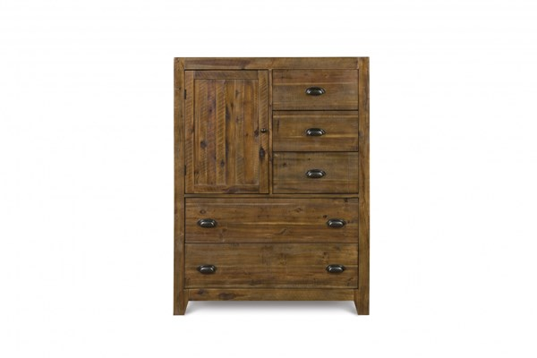 River Road Transitional Distressed Natural Wood Drawer Chest MG-B2375-10