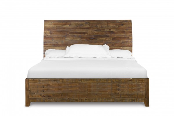 River Road Transitional Distressed Natural Wood Beds MG-B2375-BEDS