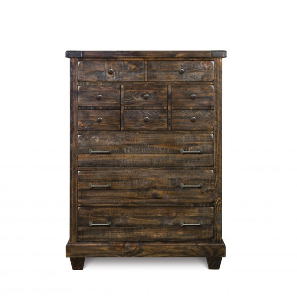 Brenley Transitional Natural Umber Wood Drawer Chest MG-B2524-10