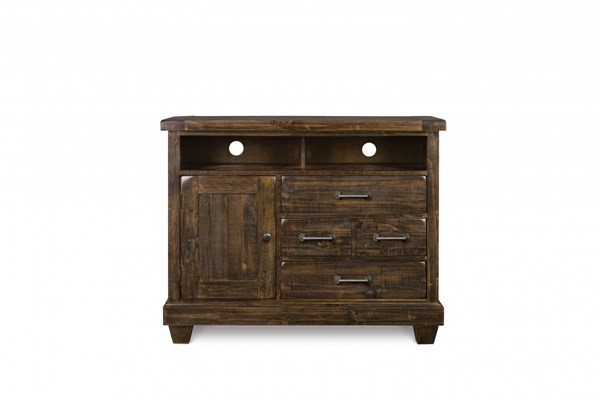 Brenley Transitional Natural Umber Wood Media Chest MG-B2524-36
