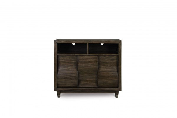 Noma Modern Graphite Wood Horizontal Media Chest MG-B2640-36