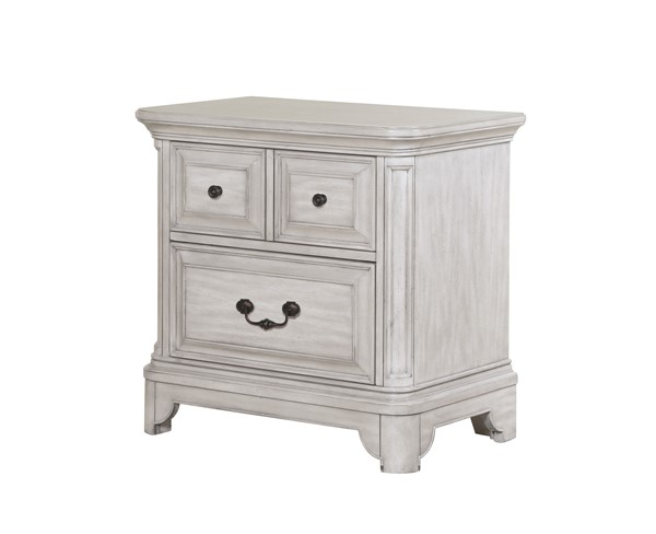 Magnussen Home Windsor Lane Grey Drawer Nightstand MG-B3341-01