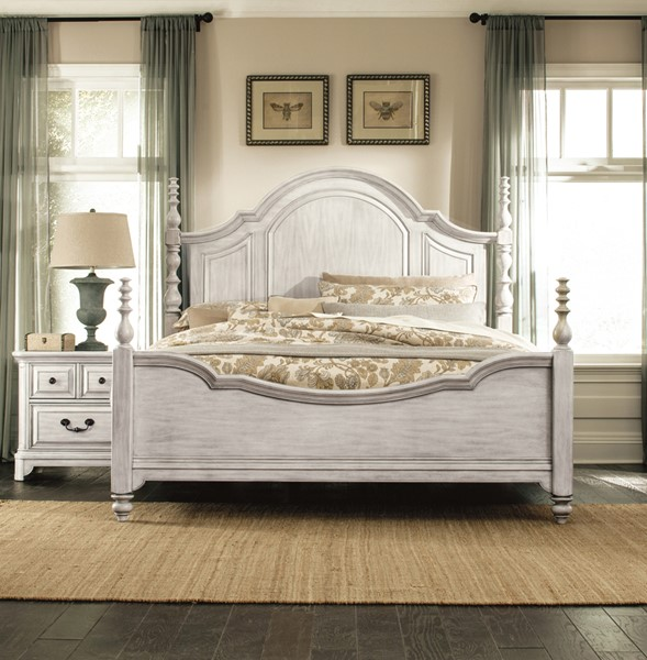 Magnussen Home Windsor Lane Grey 2pc Bedroom Set with Queen Bed MG-B3341-BR-S1