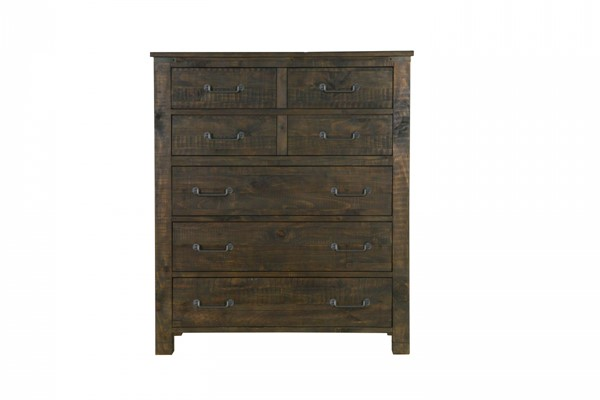 Pine Hill Transitional Rustic Pine Wood Drawer Chest MG-B3561-10