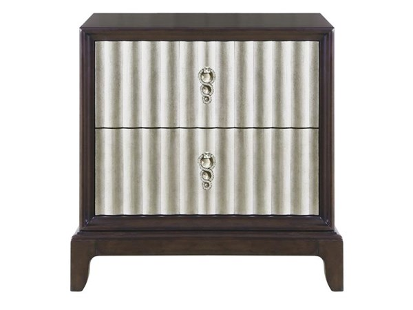 Gramercy Transitional Sable Antique Silver Wood Drawer Nightstand MG-B3564-01