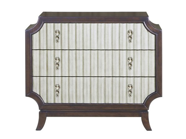 Gramercy Transitional Sable Antique Silver Wood Accent Chest MG-B3564-32