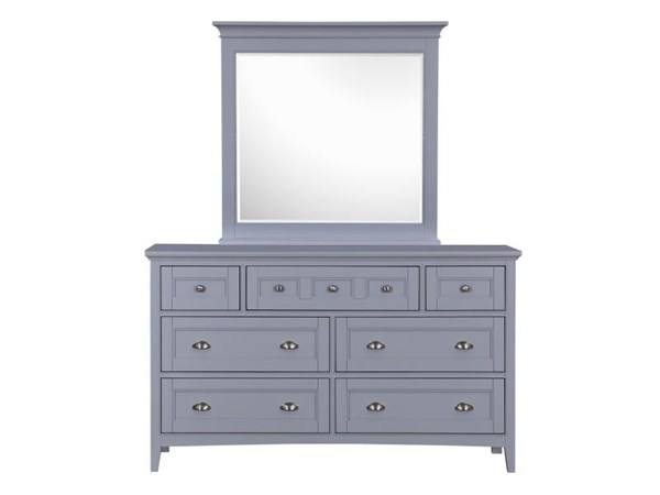Graylyn Casual Grey Steel Drum MDF Wood Glass Dresser & Mirror MG-B3572-DRMR