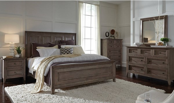Tablot Ash Driftwood Hardwood Master Bedroom Set MG-B3744-BR