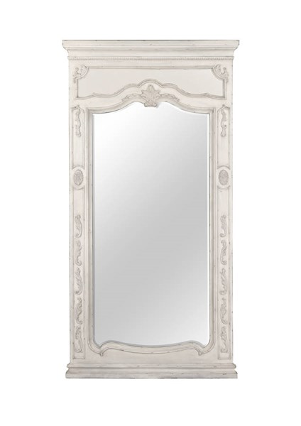 Davenport Traditional Weathered Parchment Glass Floor Mirror MG-B3787-49