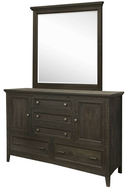 Magnussen Home Mill River Wood Drawer Dresser and Mirror MG-B3803-DRMR